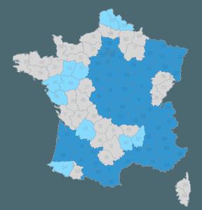 Carte de France en sa mémoire